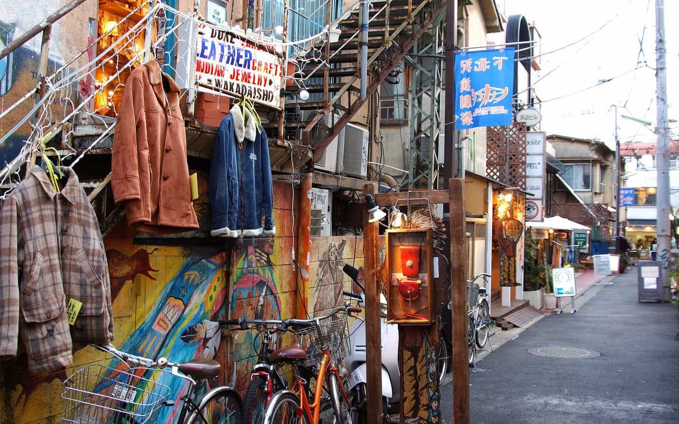 ร้านรวงในย่านชิโมะคิตาซาวะ (Shimokitazawa)