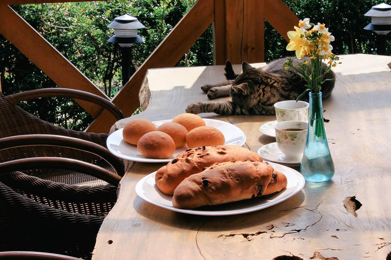 ขนมปังและกาแฟของฟาร์มสเตย์ Towa Kinoko Koubou