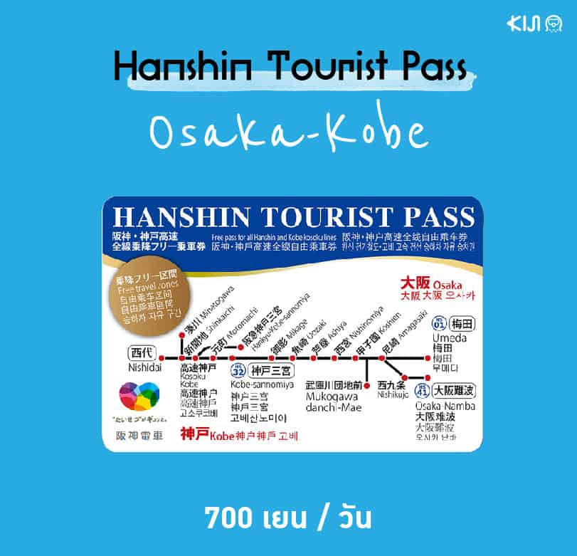 Hanshin Tourist Pass 1 day
