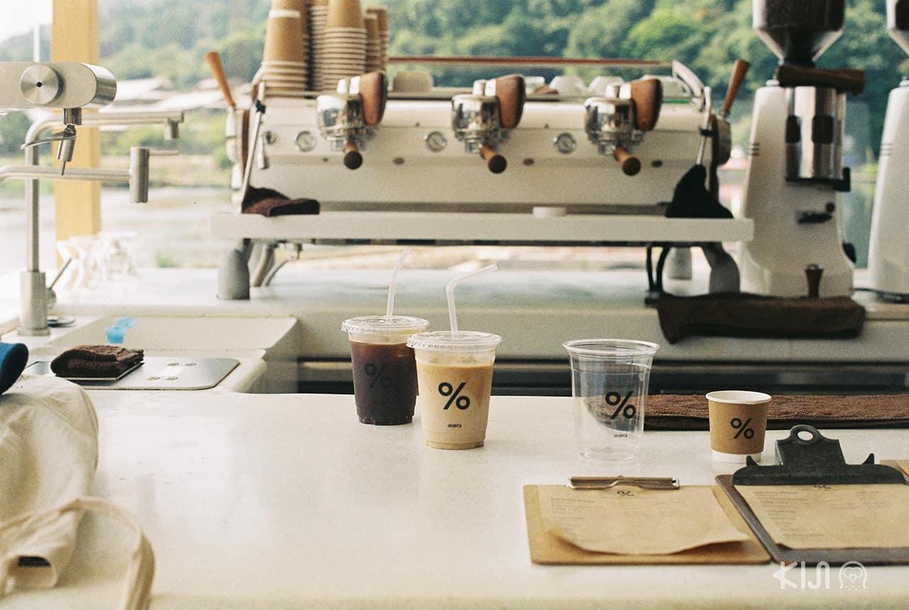 ร้านกาแฟชื่อร้าน % Arabica