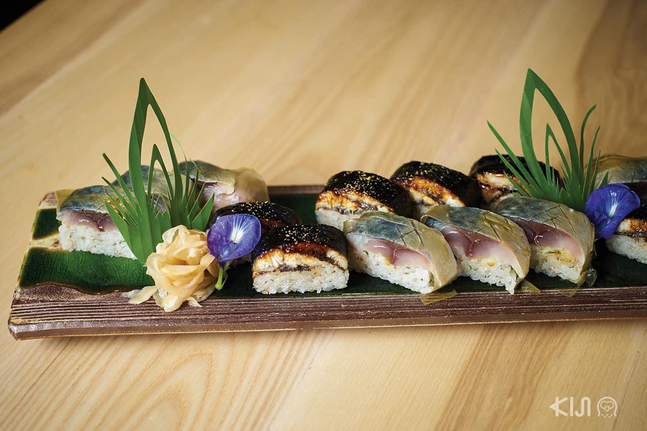 อาหารภายในร้าน Kitaro Sushi