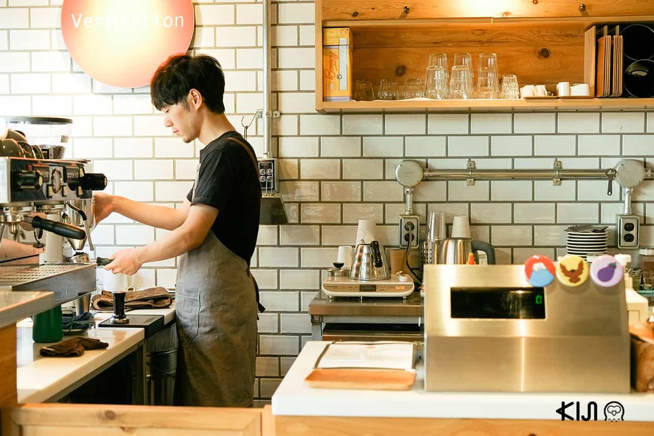 ร้านกาแฟที่ตลาด Nishiki Market
