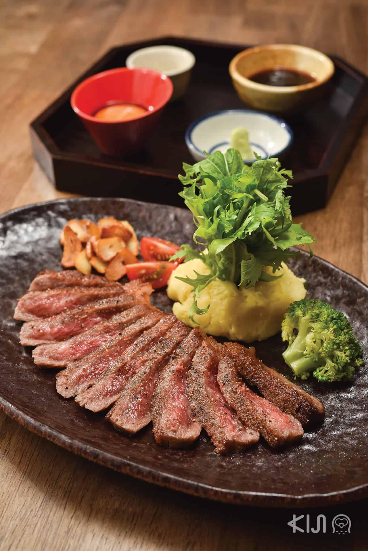 ร้าน Hitachino : Hitachi Beef Steak สเต็กเนื้อฮิตาจิ จากฟาร์มจังหวัดอิบารากิ
