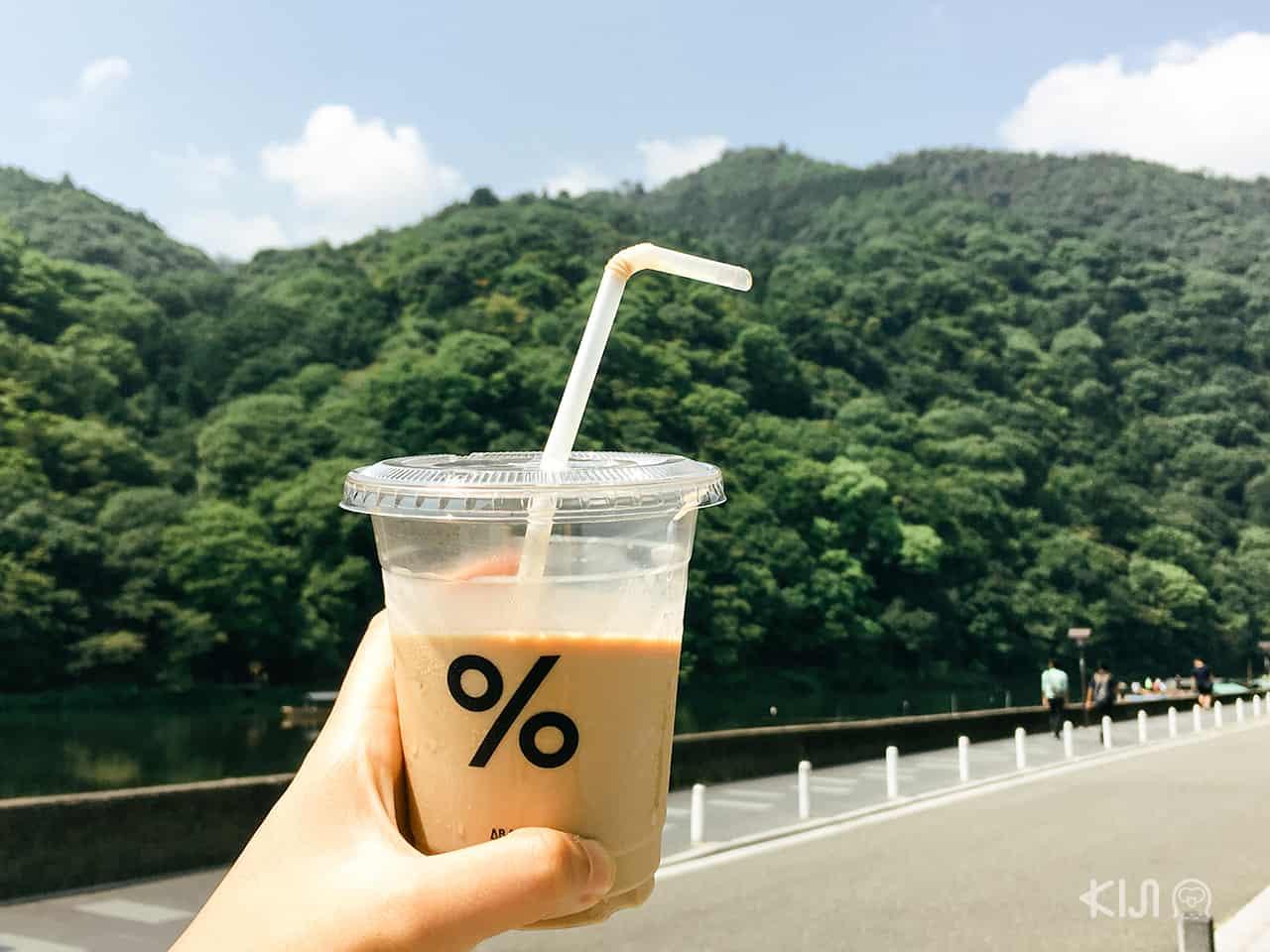 กาแฟร้าน % Arabica พร้อมกับวิวธรรมชาติสวยๆ