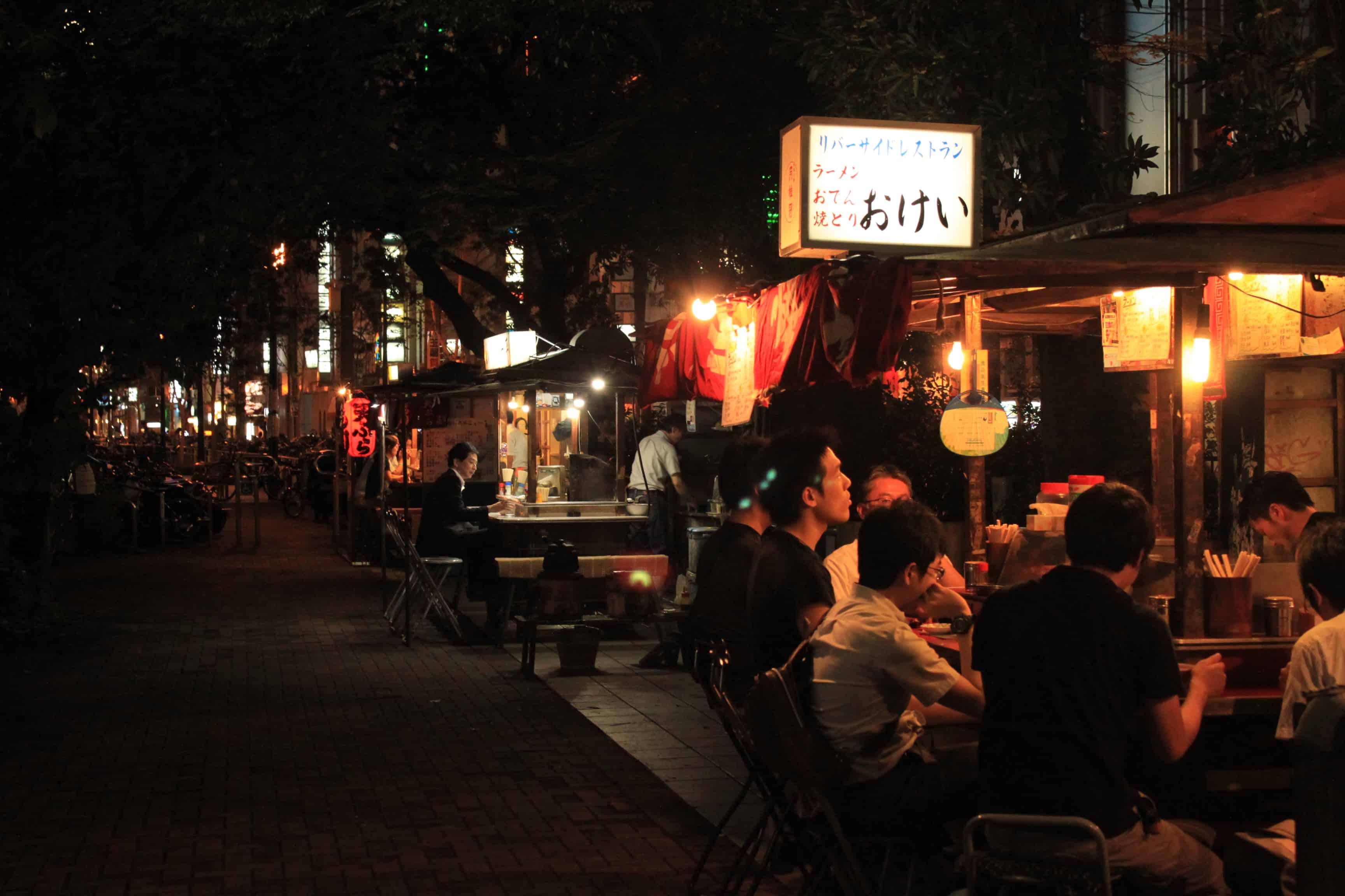 วิธีไปฟุกุโอกะ (Fukuoka) - นากาสึยะไต (Nakasu Yatai) ย่านยะไต