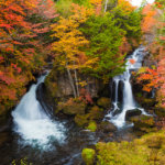 Autumn Colors and Ryuzu waterfall