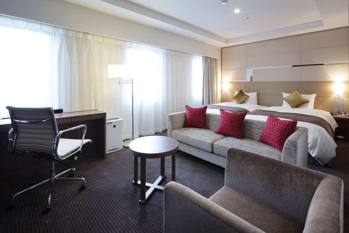 ด้านในห้องพักของโรงแรม Hotel METS Niigata