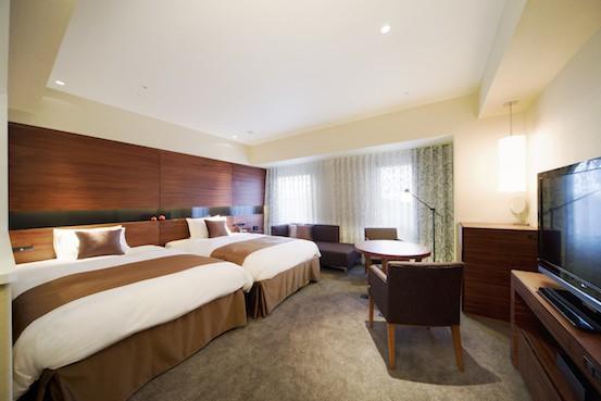 ภายในห้องพักของ Metropolitan Hotel Akita