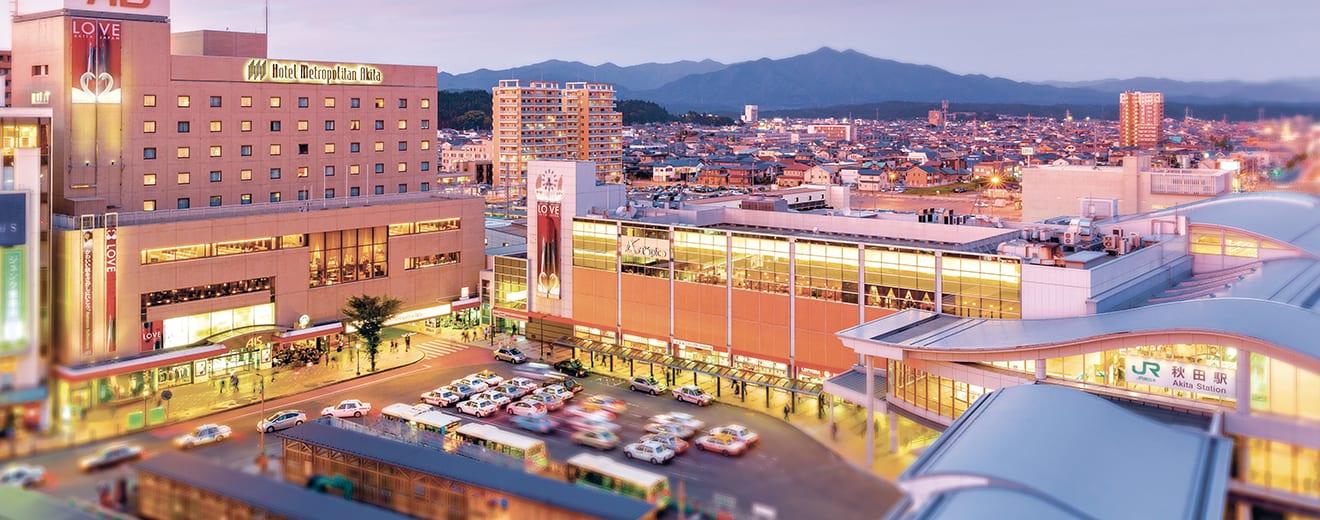โรมแรม Metropolitan Hotel Akita อยู่ติดกับสถานีอาคิตะ