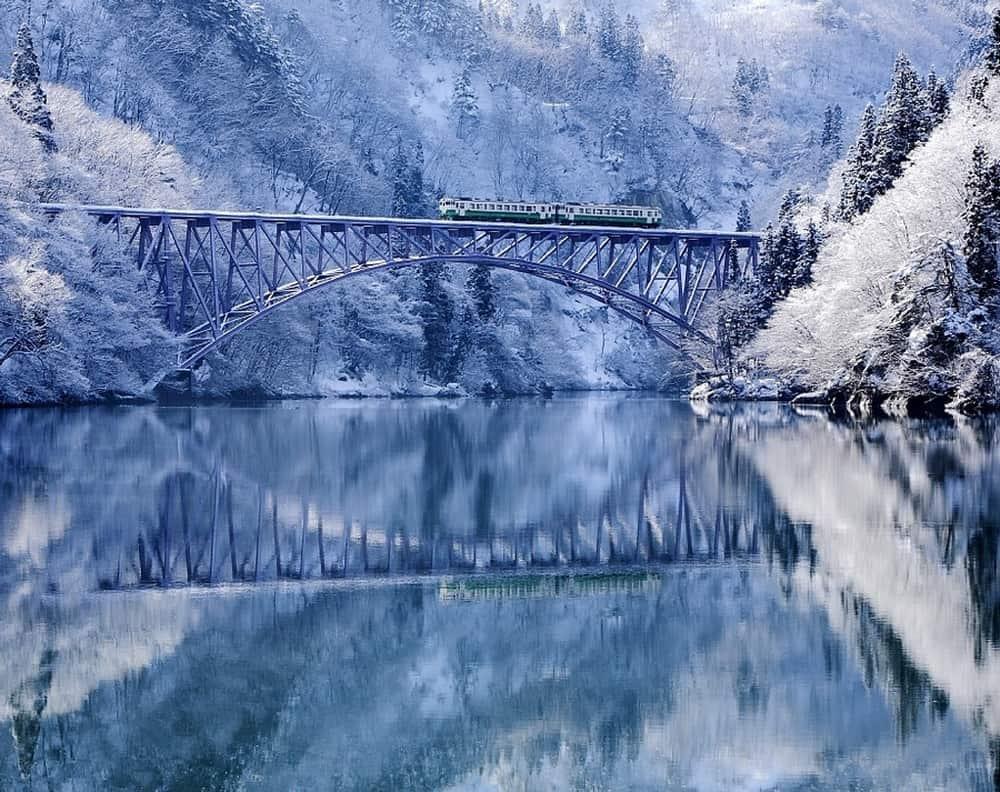 สะพานแม่น้ำทาดามิ (Tadami River Bridge) จังหวัดฟุกุชิมะ