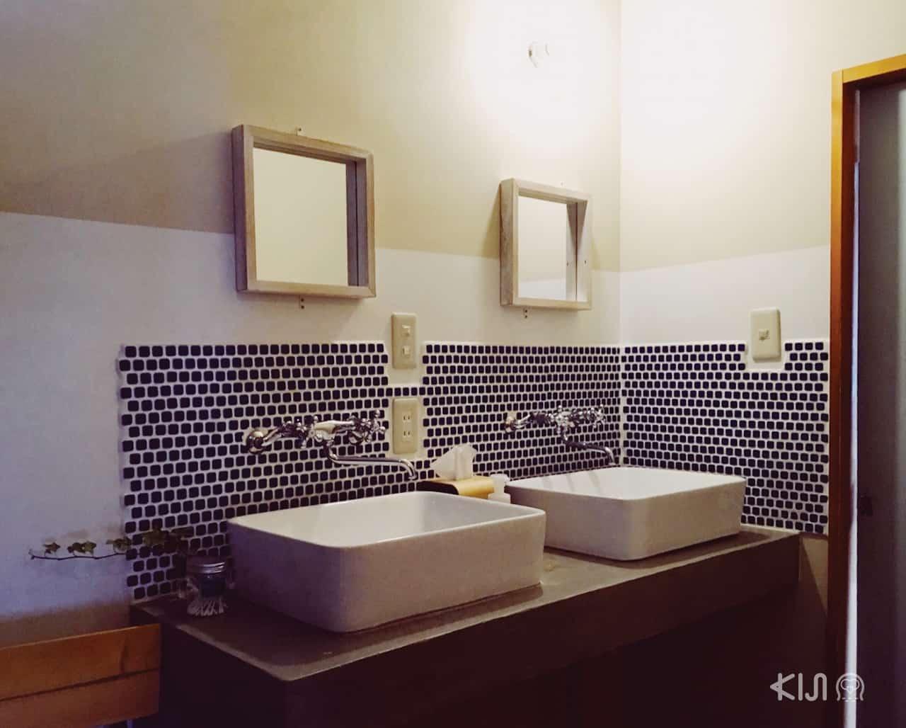 ห้องน้ำภายในเกสต์เฮ้าส์ Tokyo Hikari Guesthouse