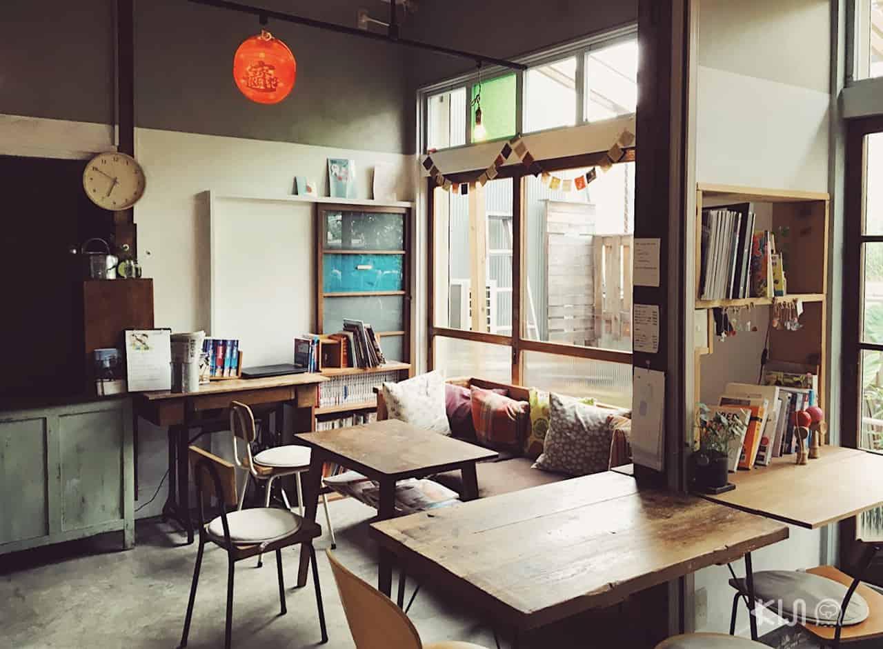ห้องพักผ่อนของเกสต์เฮ้าส์ Tokyo Hikari Guesthouse