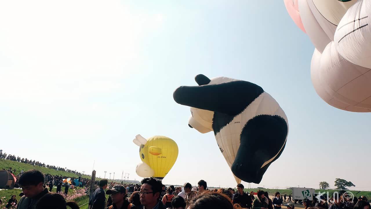 panda balloon of Saga International Balloon Fiesta