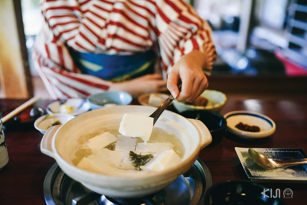 ยูโดฟุจากร้าน Yudofu Sagano ย่านอาราชิยาม่า (Arashiyama)