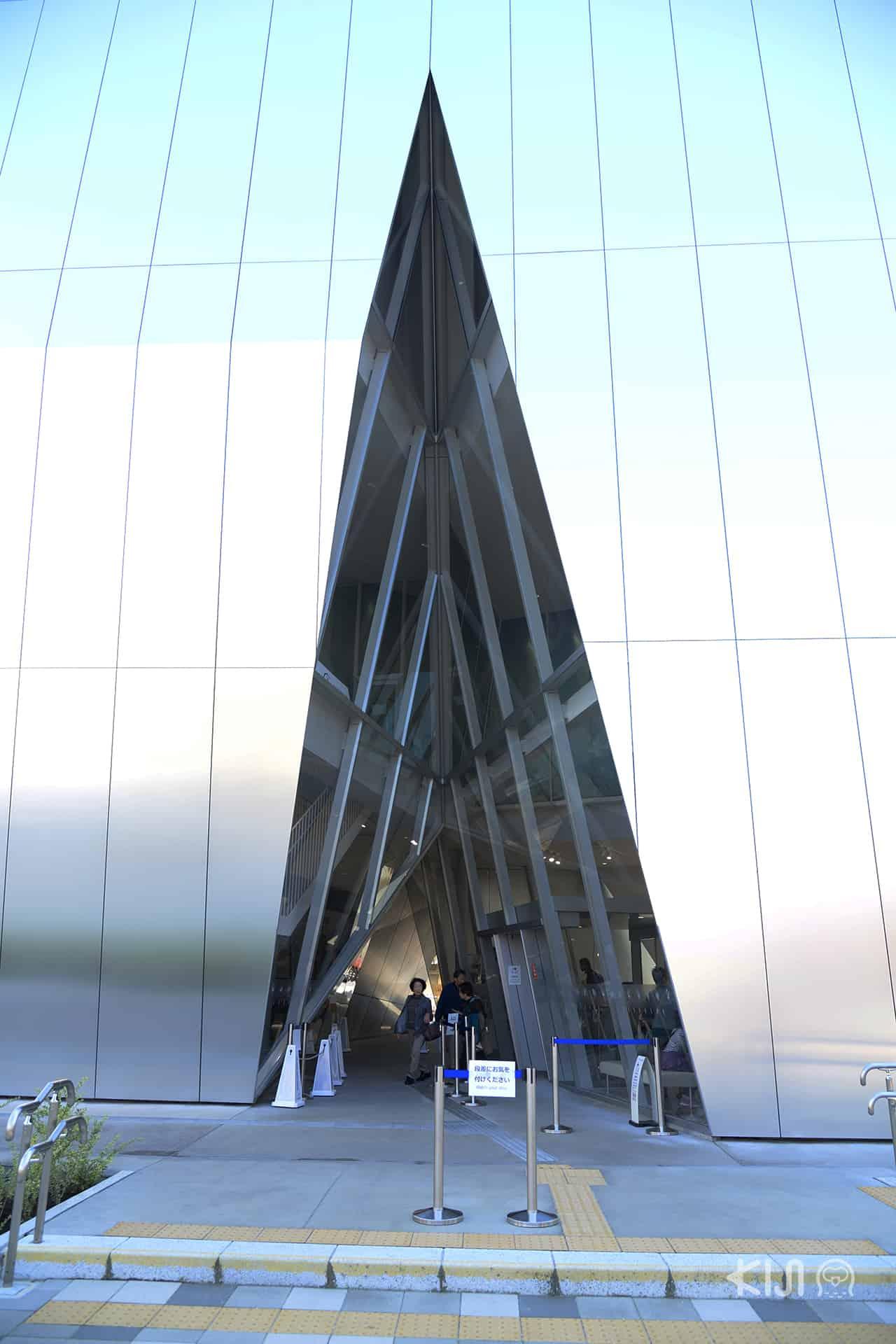 การออกแบบตึกของ Sumida Hokusai Museum