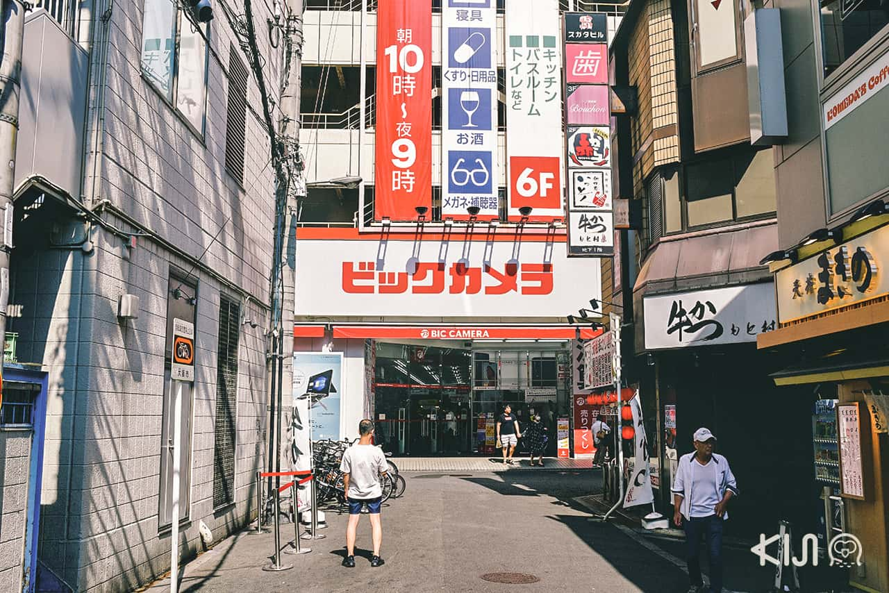 ร้าน Bic Camera ที่โอซาก้า