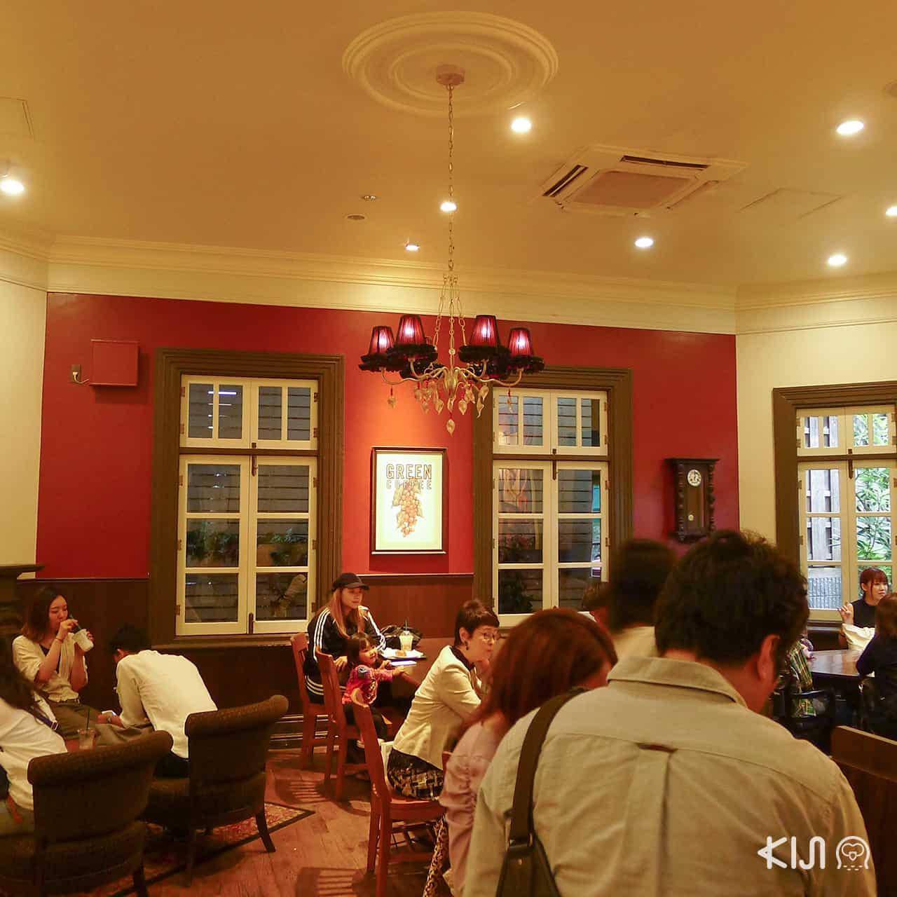 บรรยากาศภายในร้าน Starbucks Coffee Kobe Kitano Ijinkan