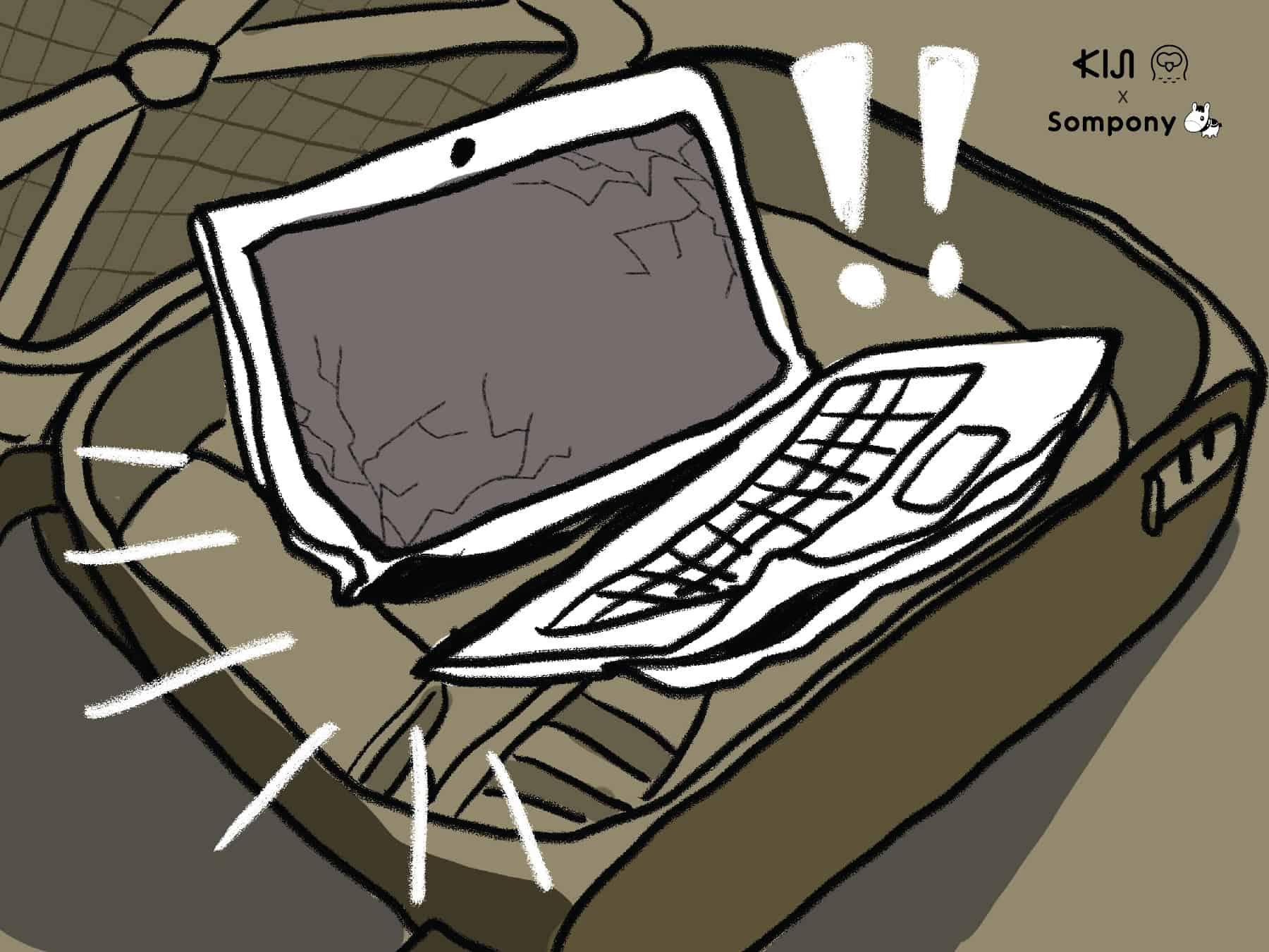 ซมโปะ (Sompo) : คอมพิวเตอร์พัง