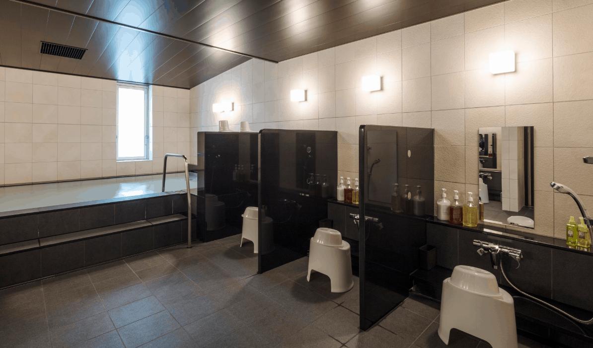 ห้องน้ำที่โรงแรมพรีเมียมแคปซูลในญี่ปุ่น