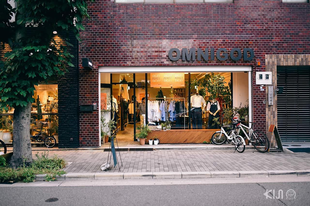 ร้าน OMNIGOD ที่ถนน Orange Street ในโอซาก้า