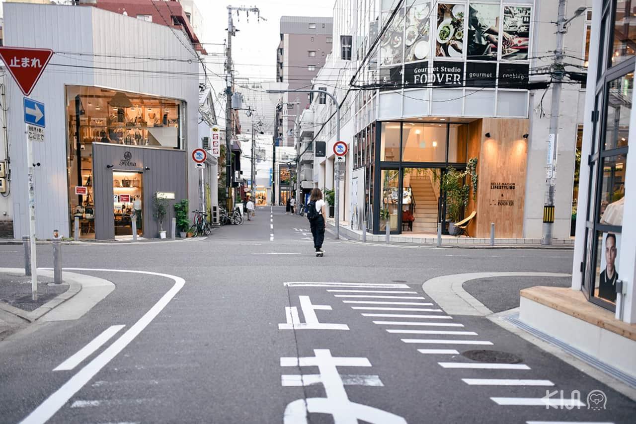 ถนน Orange Street (Horie Tachibana) ในโอซาก้า (Osaka)