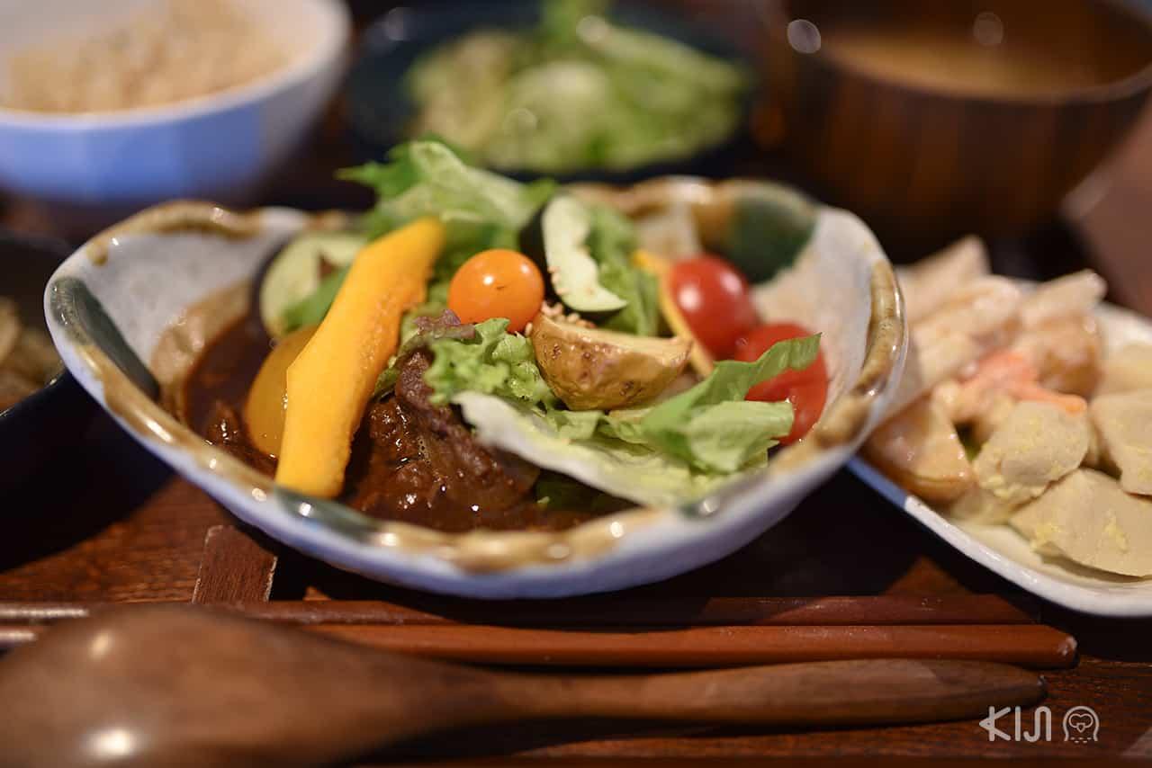 อาหารออร์แกนิคของร้านย่าน Nakazakicho ในโอซาก้า