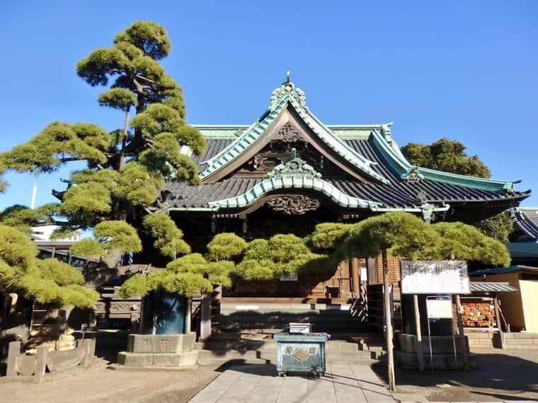 วัด Taishakuten ในย่านชิบามาตะอายุเกือบ 400 ปี