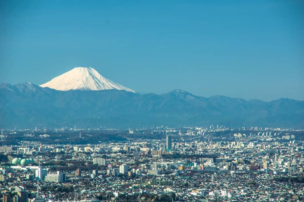 ชมภูเขาไฟฟูจิจากเมืองโตเกียวที่โทโช