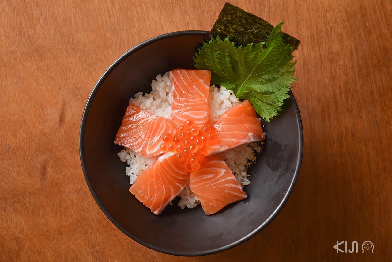 เมนูปลา แซลมอน จากร้าน Gyudon Expression : Salmon Ikura Don