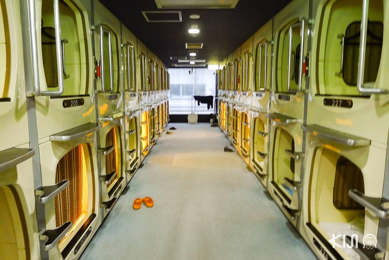 ที่พักราคาถูกในญี่ปุ่น : โรงแรม Capsule Inn Sapporo ที่เมืองซัปโปโร ตั้งอยู่ใจกลางย่าน Susukino เบ็ดเสร็จคืนละ 2,200 เยน (รวมทุกอย่างแล้ว)