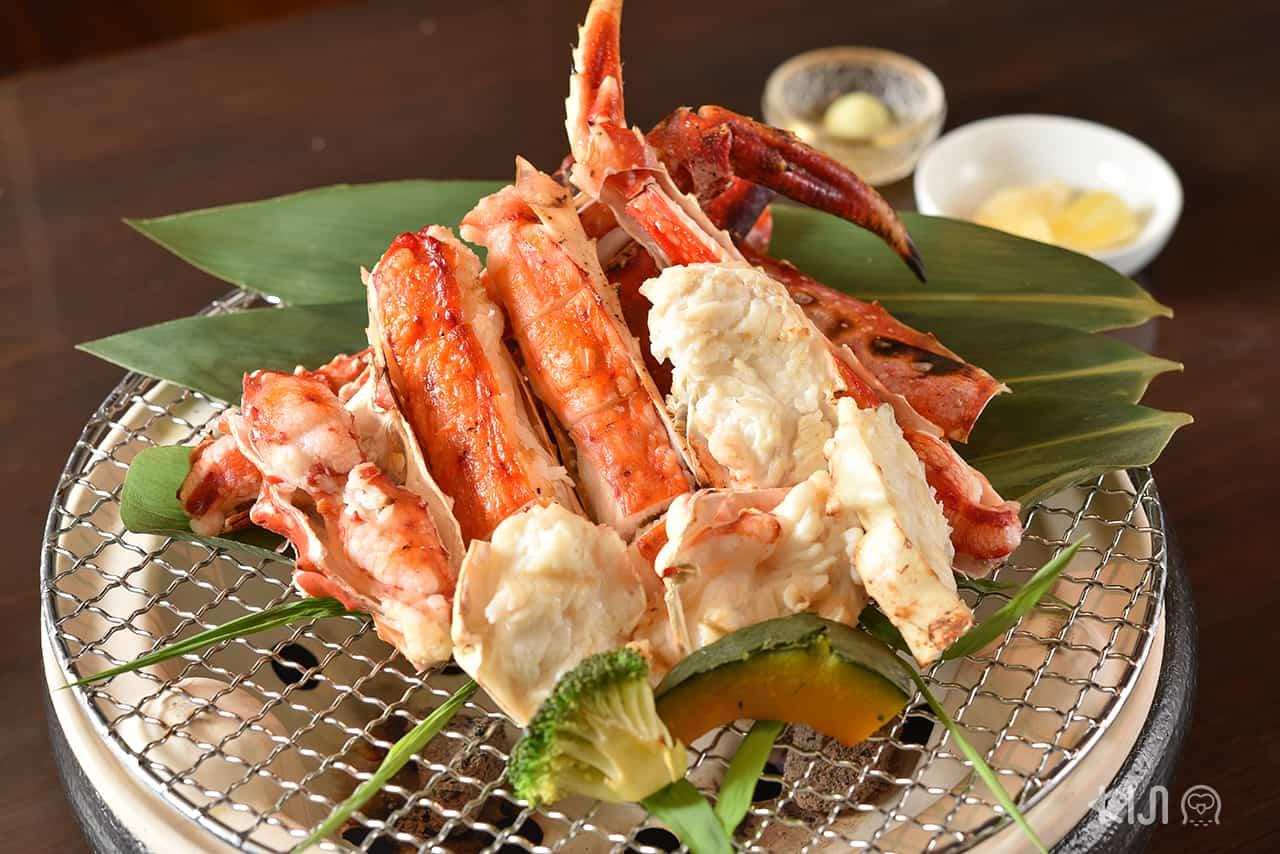 เมนูปูทาราบะจาก จ.ฮอกไกโด อาหารของร้าน Kitaohji Ginza Thailand