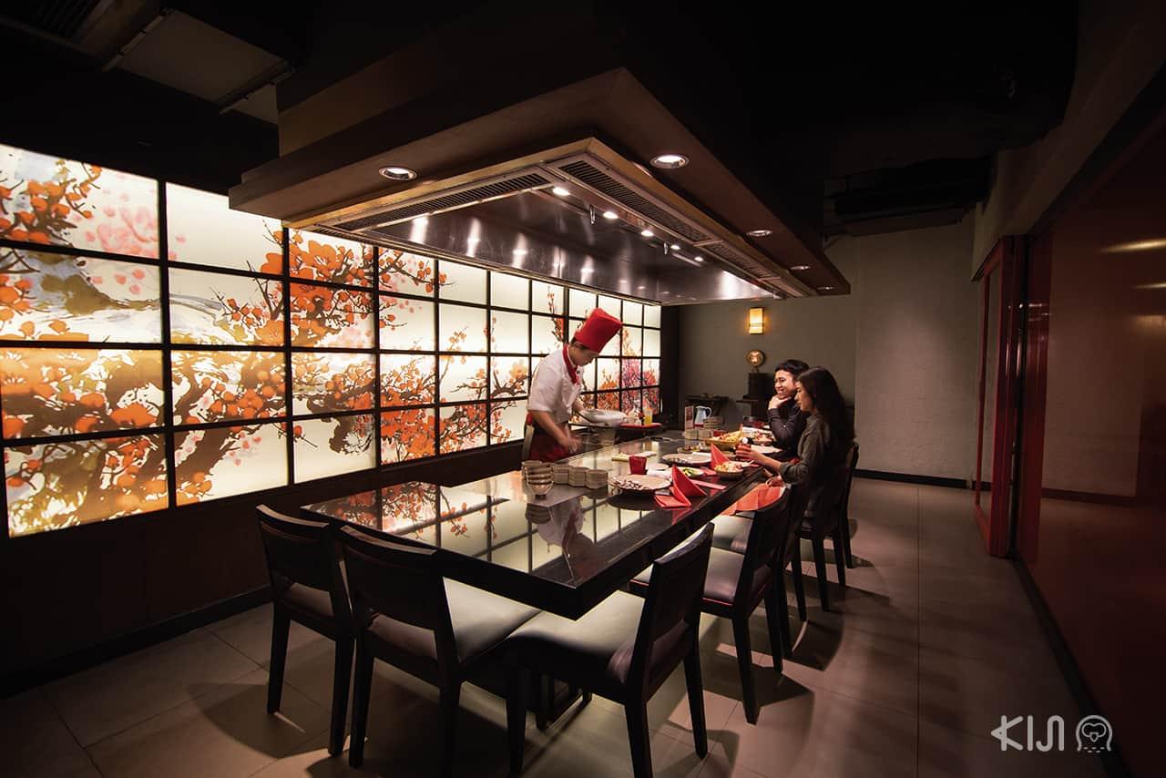 ร้านอาหารญี่ปุ่น โรแมนติก : ร้าน Benihana