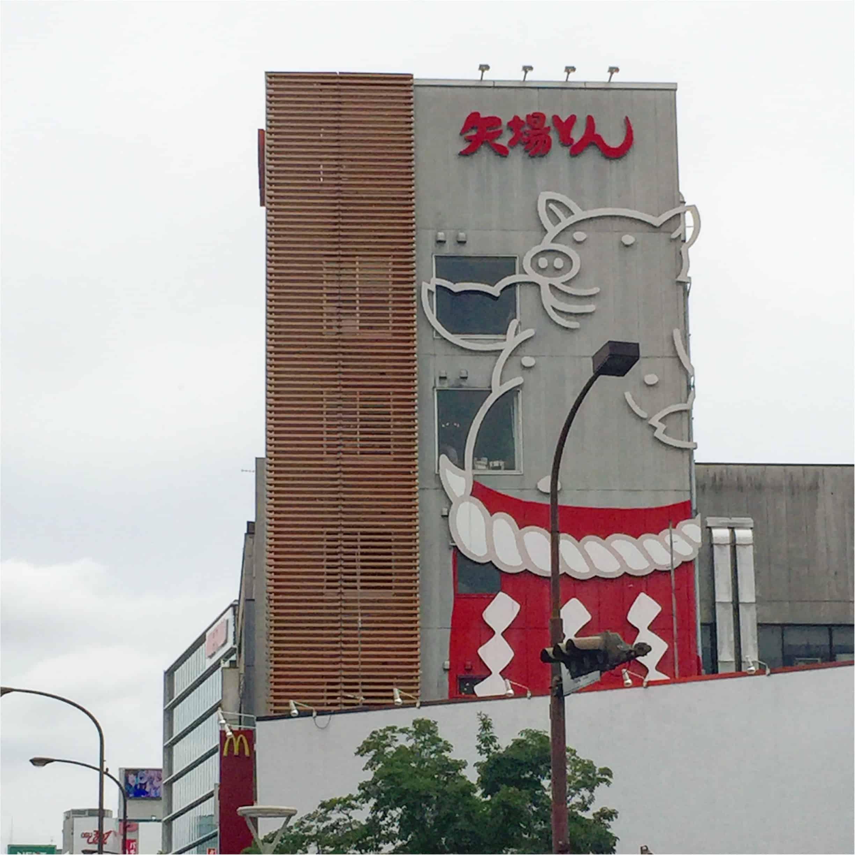 ป้ายขนาดใหญ่ของร้านมิโซะคัตสึ ยาบะตง สาขาใหญ่ (Misokatsu Yabaton Honten : みそかつ矢場とん 本店) ที่นาโกย่า
