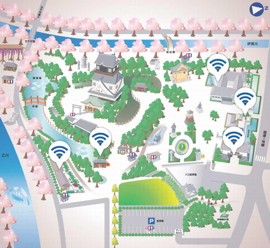 ชุดเชื่อมต่อ Wi-fi ของเมืองโอกาซากิ (Free Wi-fi Locations of Okazaki)