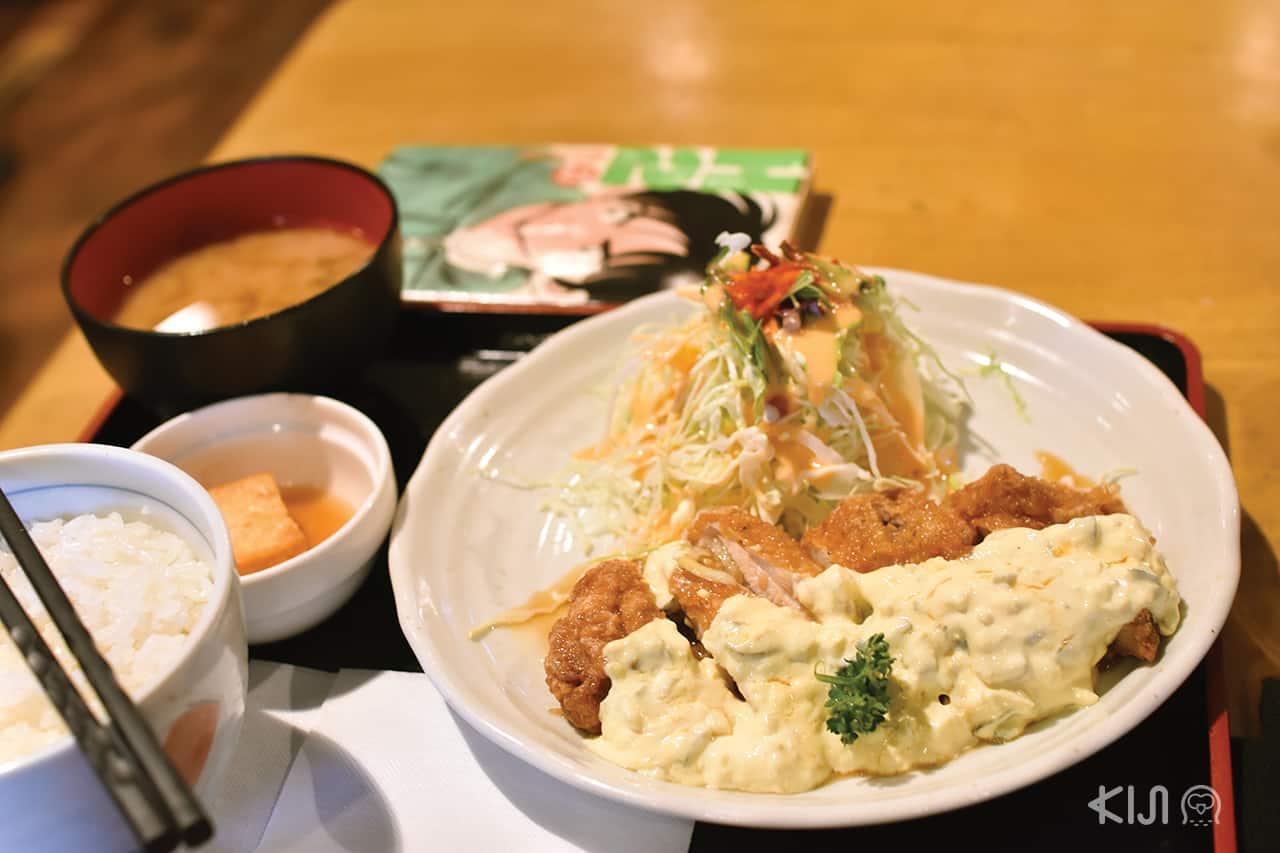 อาหารญี่ปุ่นโฮมเมด จากร้าน Aikamu ในย่านอิชิโจจิ (Ichijoji)