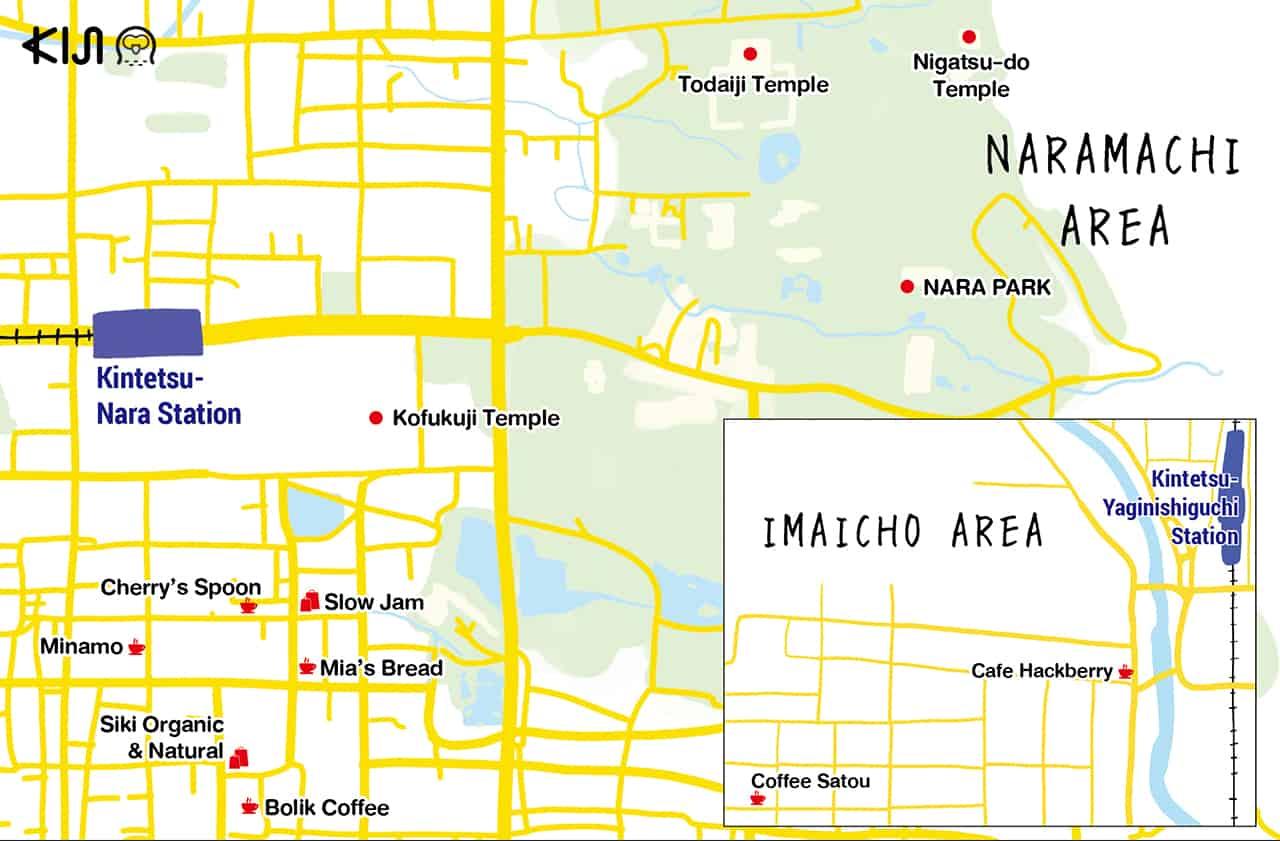 แผนที่เที่ยวในนารา (Nara Map)