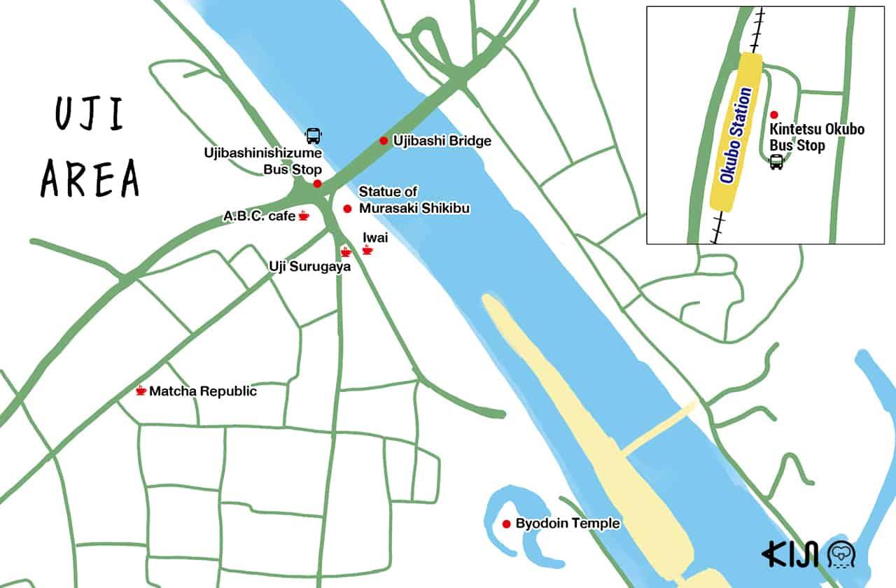 แผนที่เที่ยวเมืองอุจิ (Uji)