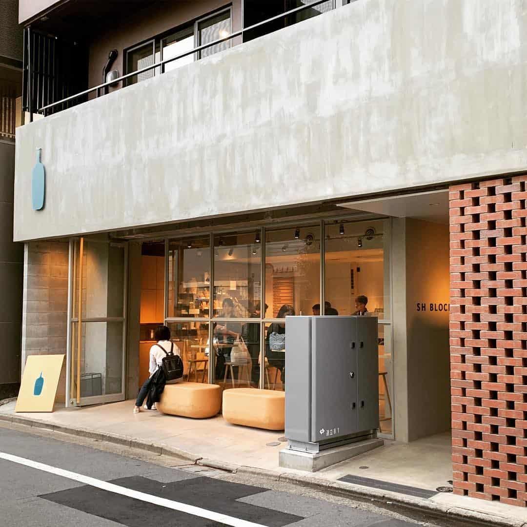 คาเฟ่ Blue Bottle Coffee โตเกียว