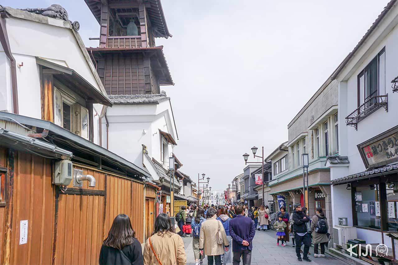 ถนน Kurazukuri ย่านการค้าของเมือง คาวาเอโกะ