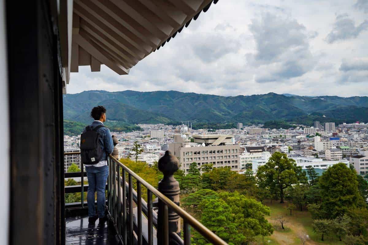 จุดชมวิวเมืองโคจิ (Kochi) ที่ปราสาทโคจิ (Kochi Castle)