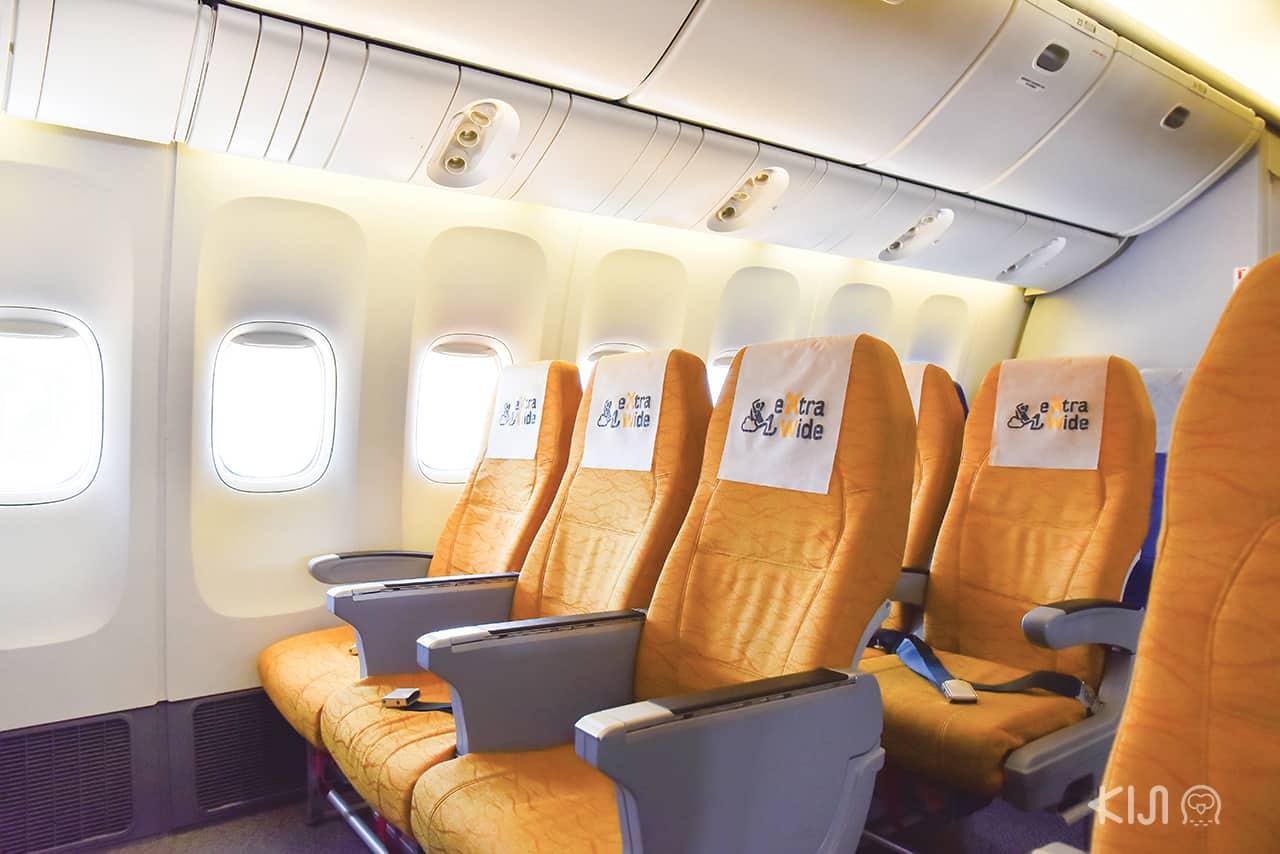 ภายในเครื่องบินของนกสกู๊ต (NokScoot)