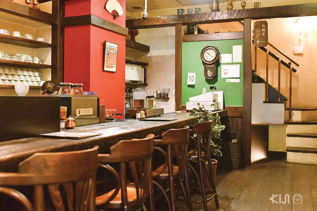 เที่ยวโกเบ คาเฟ่ : บรรยากาศภายในคาเฟ่ Coffee Syunju Kobe
