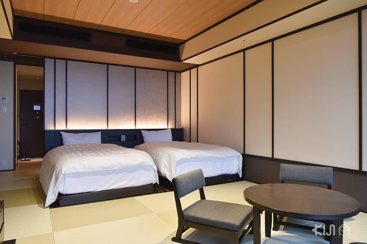 บรรยากาศภายในห้องพักที่โรงแรม Hakone Kowakien Tenyu
