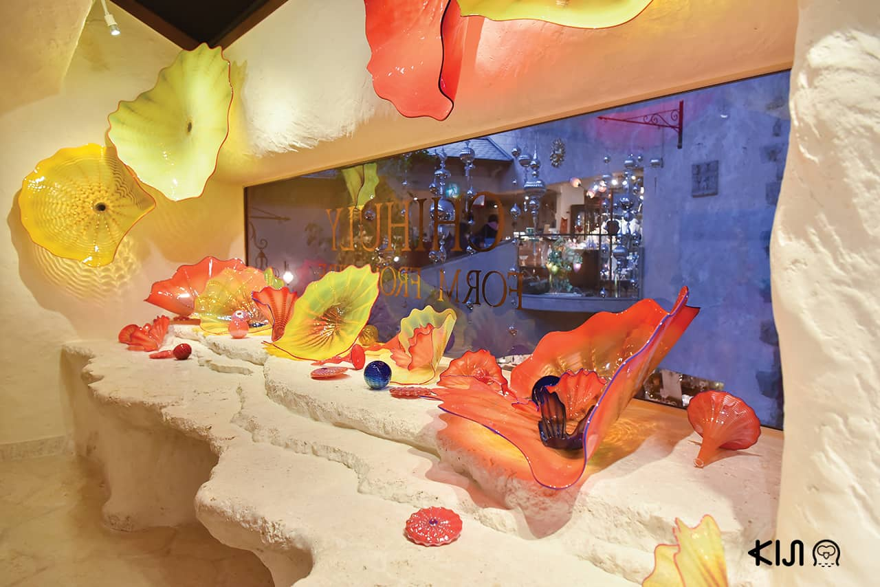 การตกแต่งภายในของ Hakone Venetian Glass Museum