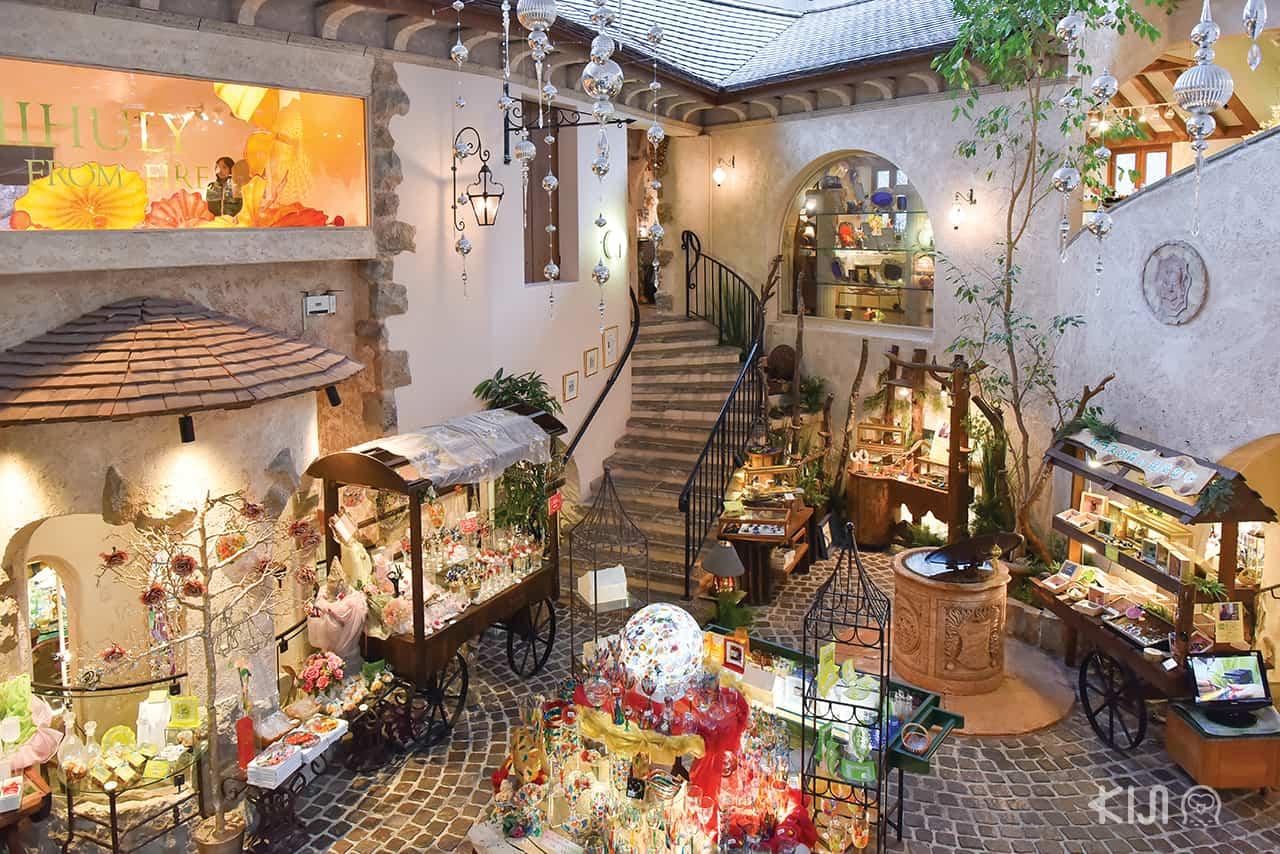 โซนของฝากที่ Hakone Venetian Glass Museum