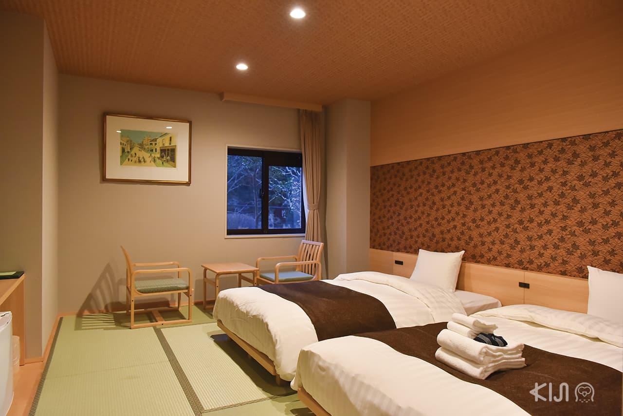 บรรยากาศภายในห้องพักของโรงแรม Hakone Kowakien Miyamafurin