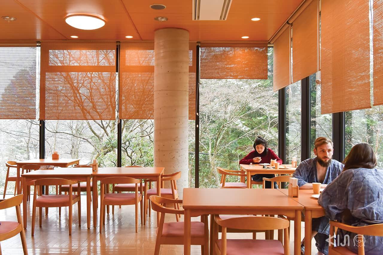 บรรยากาศภายในห้องอาหารของโรงแรม Hakone Kowakien Miyamafurin