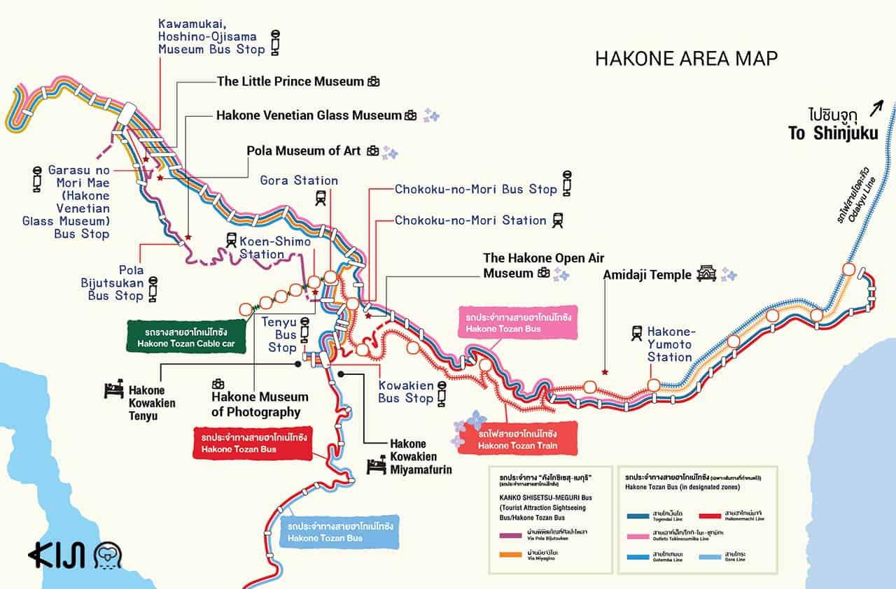 Hakone Kamakura Pass: แผนที่เที่ยวเมืองฮาโกเน่