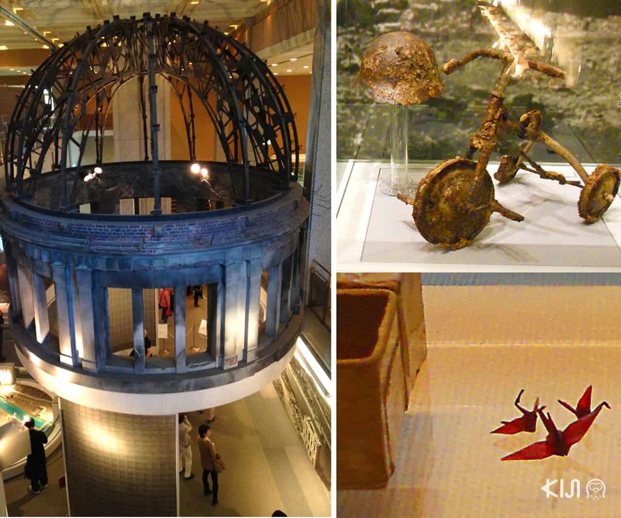 บรรยากาศภายในพิพิธภัณฑ์ Hiroshima Peace Memorial Museum