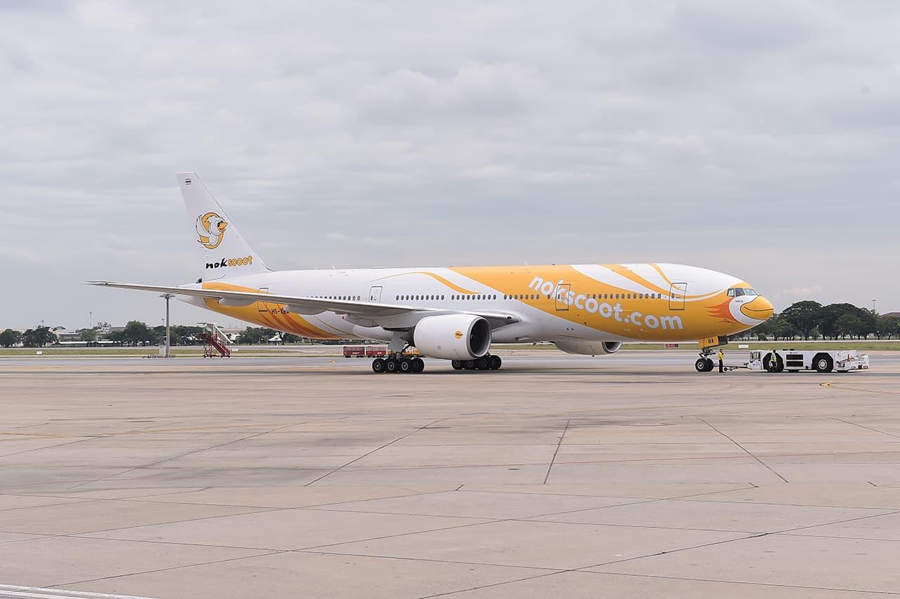 โดยสารเครื่องบินโบอิ้ง 777-200 ลำใหญ่ของนกสกู๊ต (NokScoot) เพื่อไปเที่ยวคามาคุระ (Kamakura) และฮาโกเน่ (Hakone)
